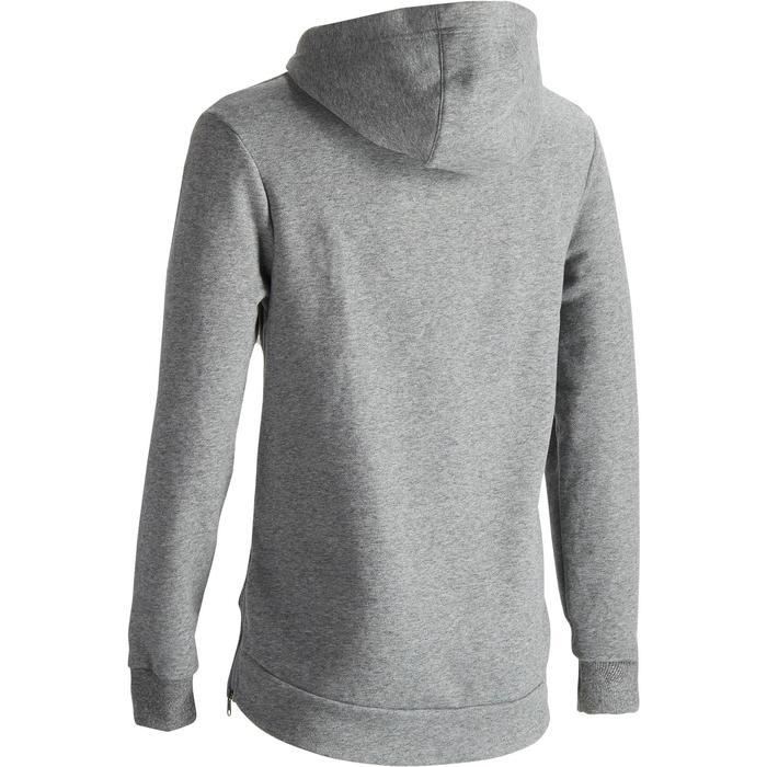 Kapuzensweatshirt 900 Gymnastik Herren Reißverschlüsse grau meliert