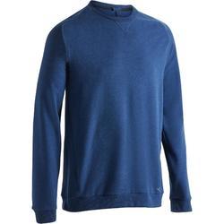 Gym en pilates sweatshirt heren 500 donkerblauw
