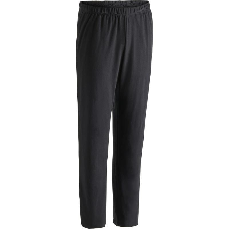 Fitness Jogging Bottoms with Straight Leg - Black