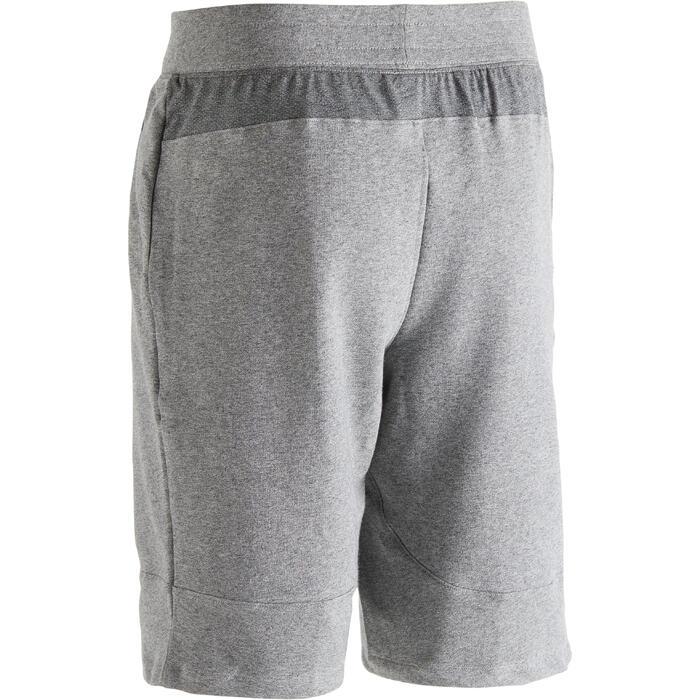 Short 900 slim au dessus du genou Gym Stretching & Pilates homme gris - 1302150