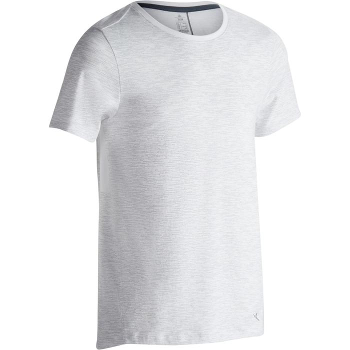 T-Shirt 520 regular col rond Gym & Pilates blanc AOP homme - 1302153