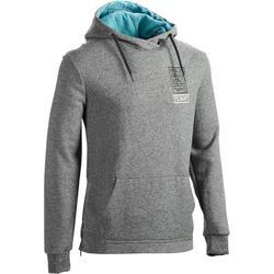 920 Hooded Gym & Pilates Sweatshirt with Side Zip - Mottled Grey