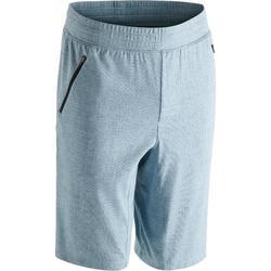 520 Knee-Length Slim-Fit Gym & Pilates Shorts - Black
