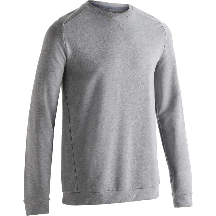Sweat homme 500 gris clair