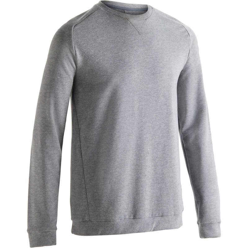 MAN GYM, PILATES COLD WEATHER APPAREL Clothing - Men's Gym Sweatshirt 120 DOMYOS - Tops