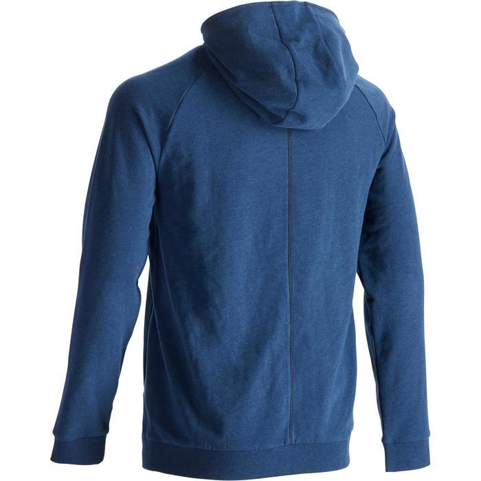 健身連帽外套500 - 深藍色