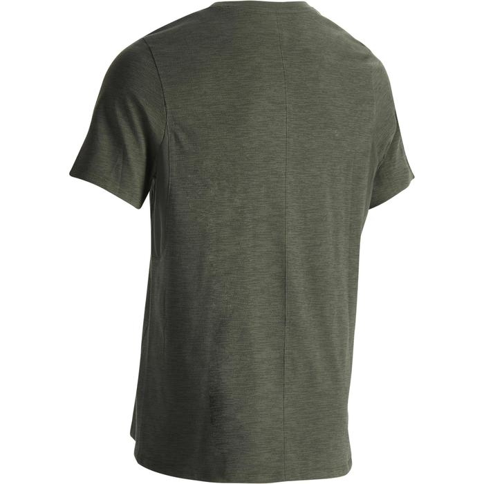 T-Shirt 520 regular col rond Gym & Pilates blanc AOP homme - 1302167