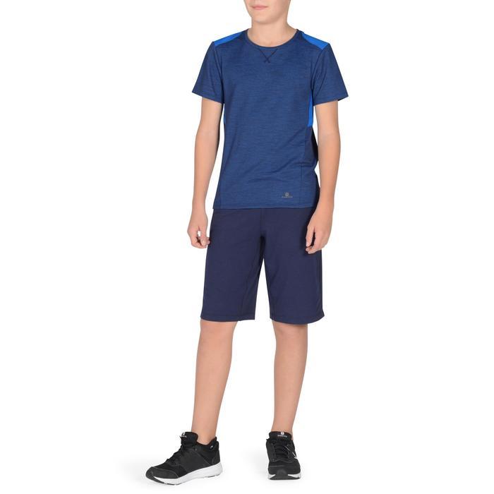 Gym T-shirt met korte mouwen 500 voor jongens blauw