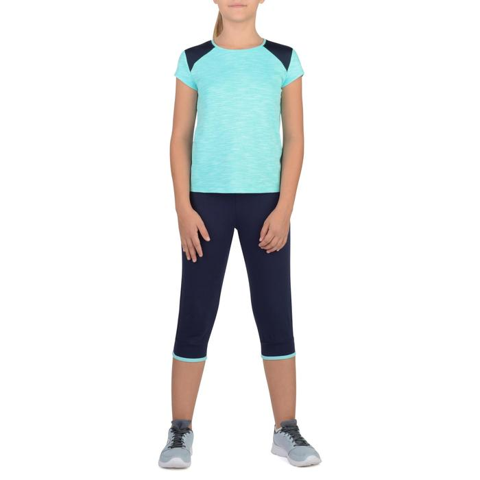 Camiseta de manga corta 500 gimnasia niña azul