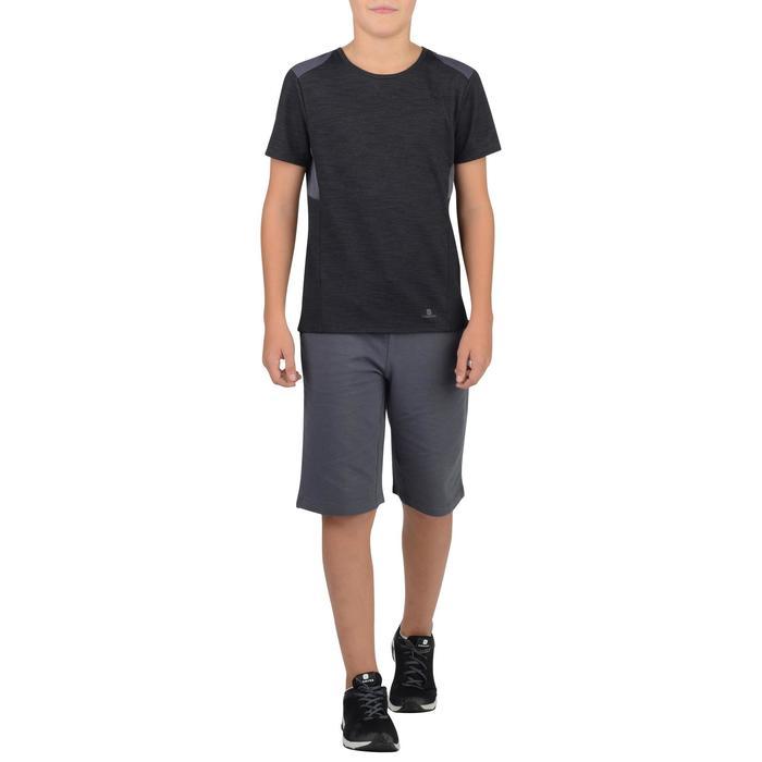 T-Shirt manches courtes 500 Gym garçon gris noir
