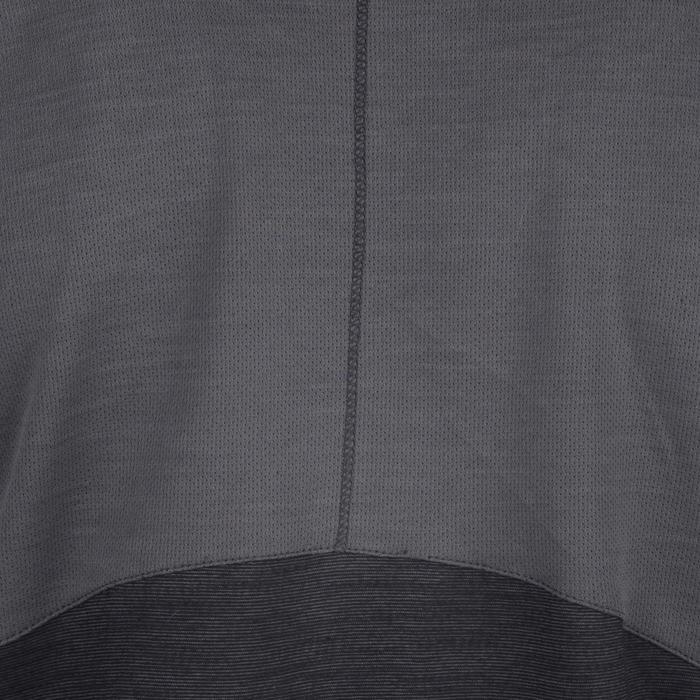 T-Shirt Kurzarm 500 Gym Kinder grau/schwarz