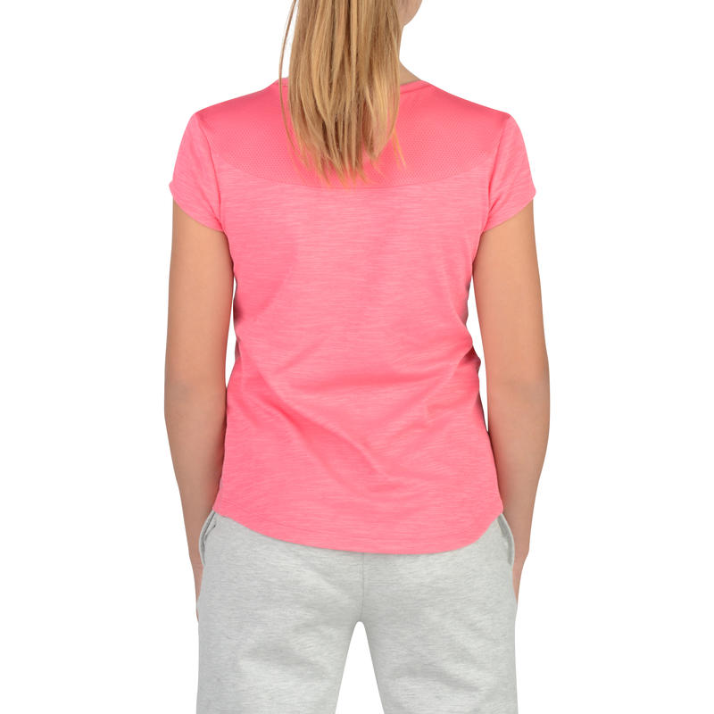 S500 Girls' Short-Sleeved Gym T-Shirt - Pink