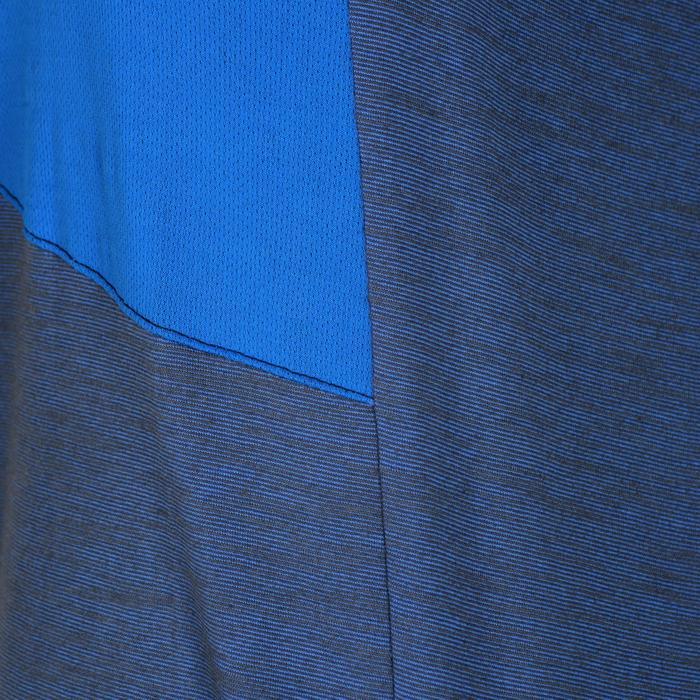 T-Shirt manches courtes 500 Gym garçon bleu