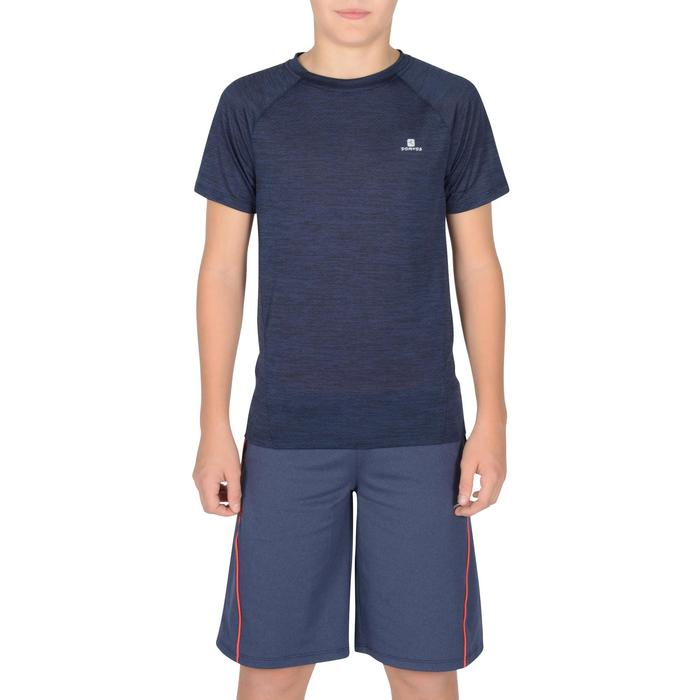 T-Shirt manches courtes S500 Gym garçon marine