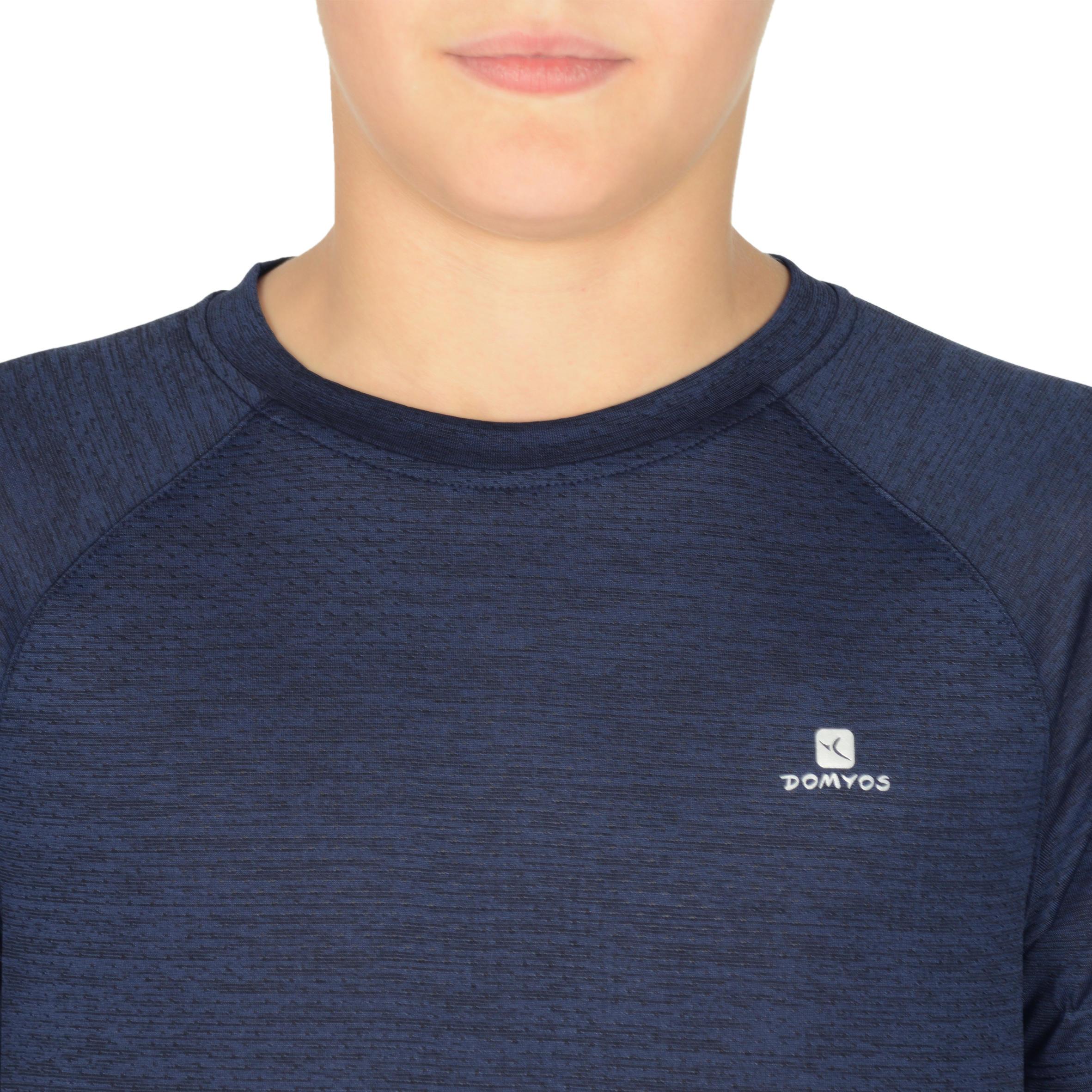 S500 Boys' Short-Sleeved Gym T-Shirt - Navy
