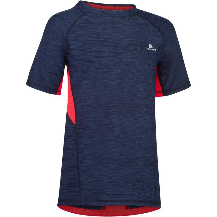 T-Shirt manches courtes S900 Gym garçon marine - 1302299