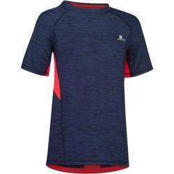 T-Shirt manches courtes S900 Gym garçon marine rouge