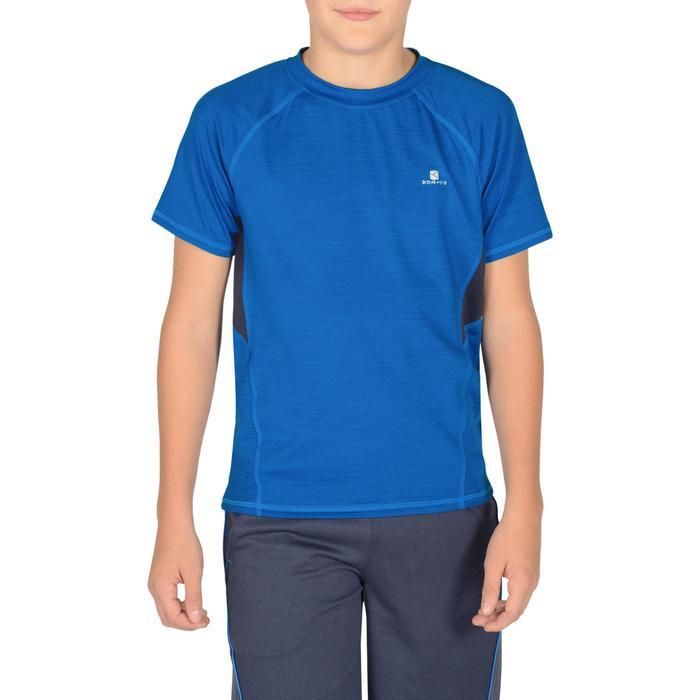 T-Shirt manches courtes S900 Gym garçon marine - 1302304