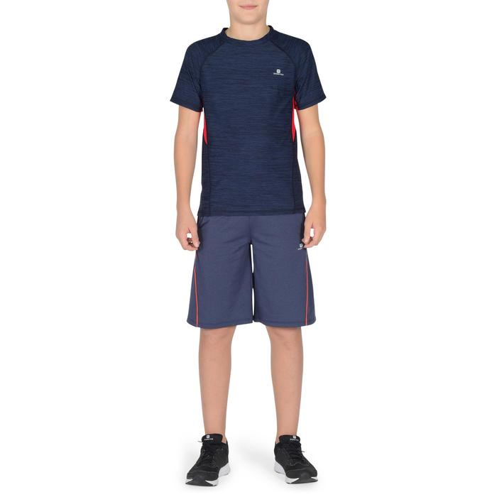 T-Shirt manches courtes S900 Gym garçon marine - 1302327