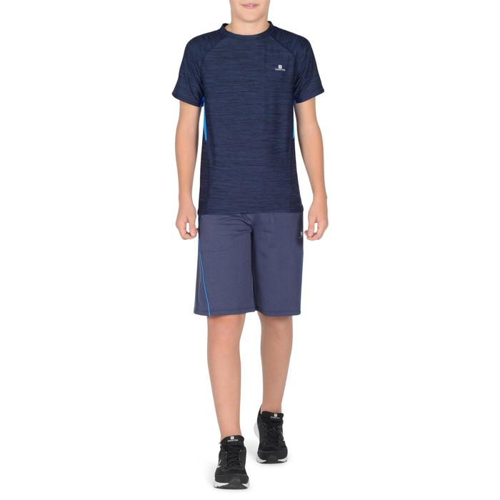 S900 Boys' Short-Sleeved Gym T-Shirt - Navy Blue - 1302337