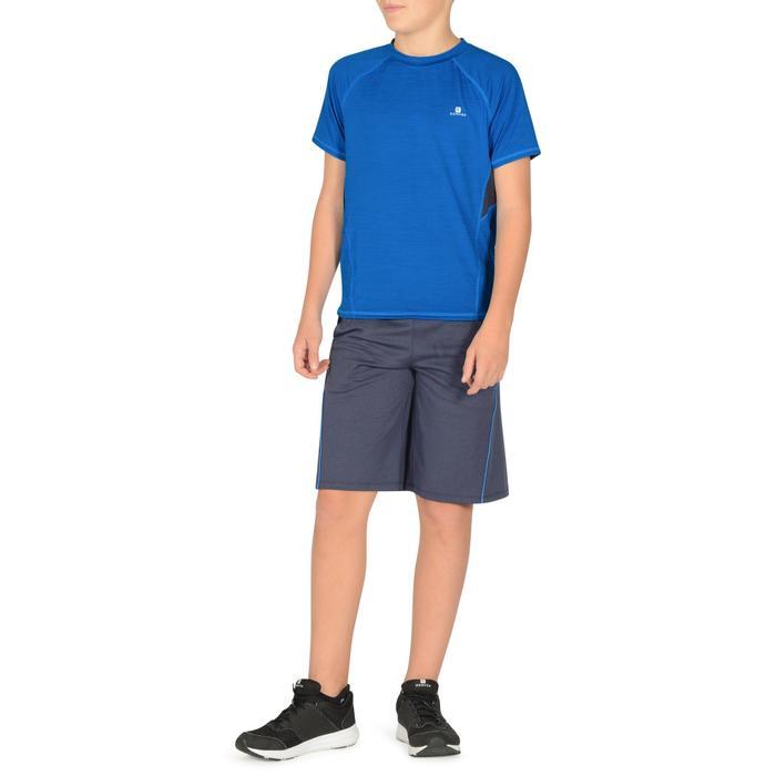 Camiseta de Manga Corta Gimnasia Domyos S900 Niños Azul Cobalto