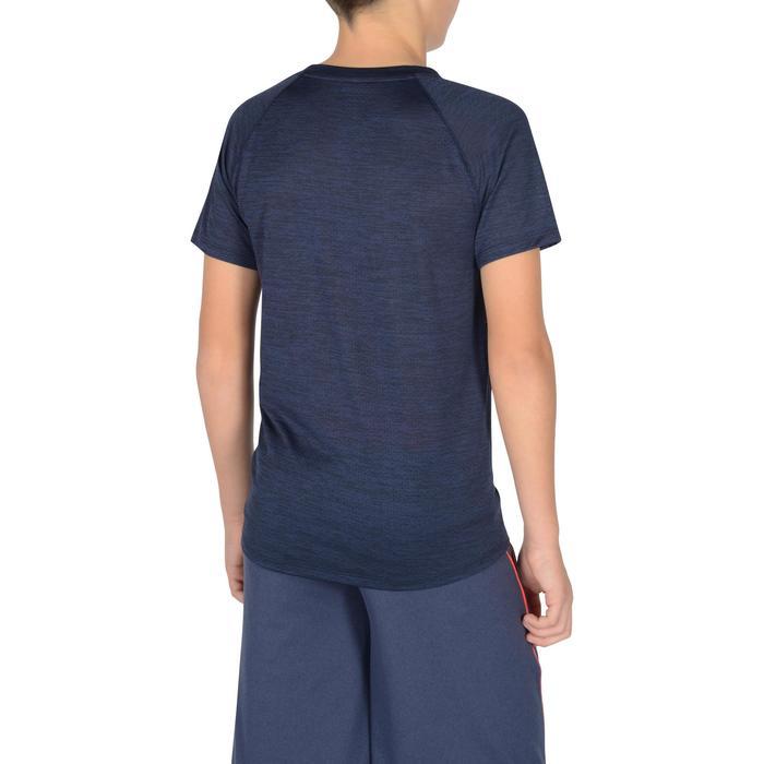 Camiseta Manga Corta Deportiva Gimnasia Domyos S560 Niño Azul Marino