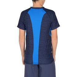 Gym T-shirt met korte mouwen S900 voor jongens marineblauw