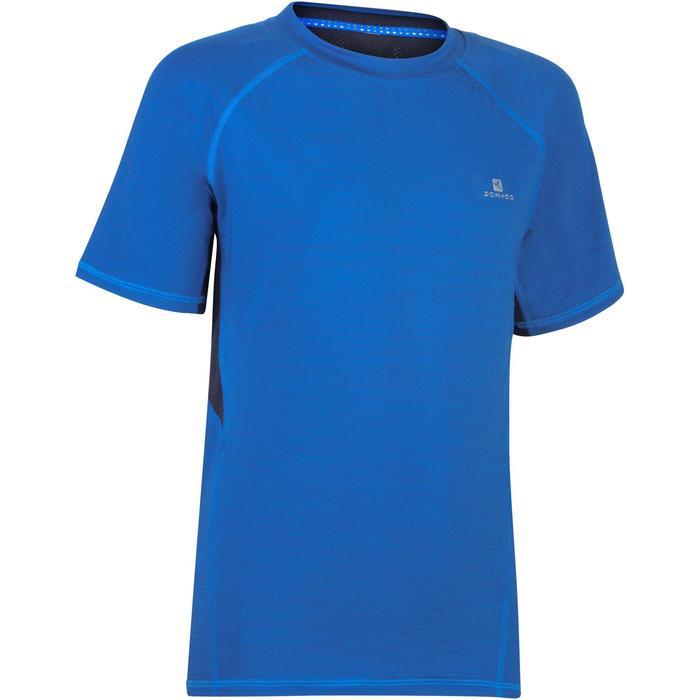 T-Shirt manches courtes S900 Gym garçon marine - 1302397