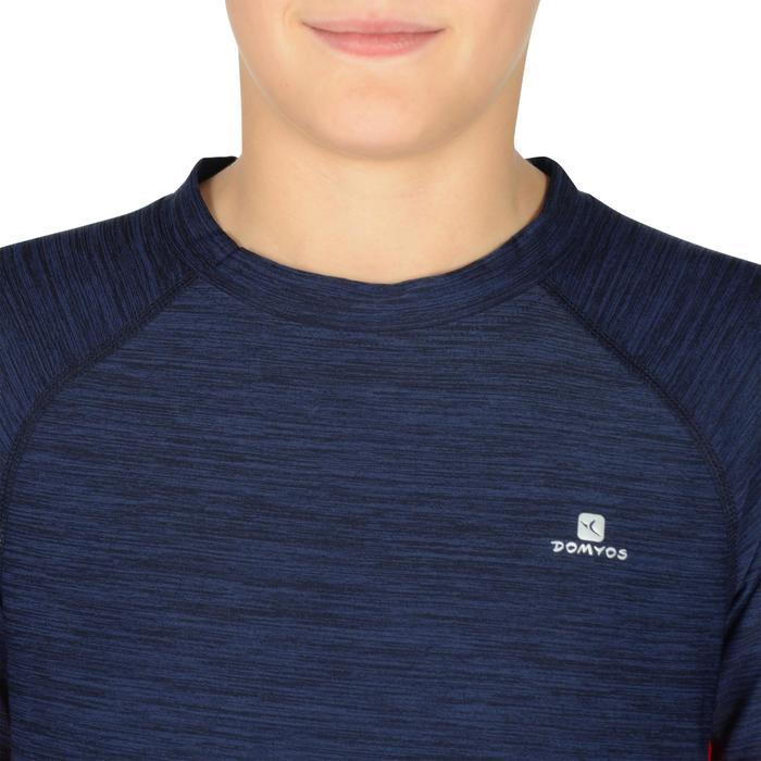 T-Shirt manches courtes S900 Gym garçon marine - 1302400
