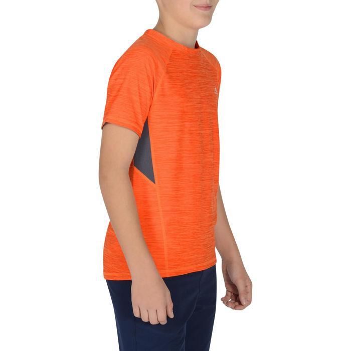 960 男童短袖健身運動衫-橙/灰