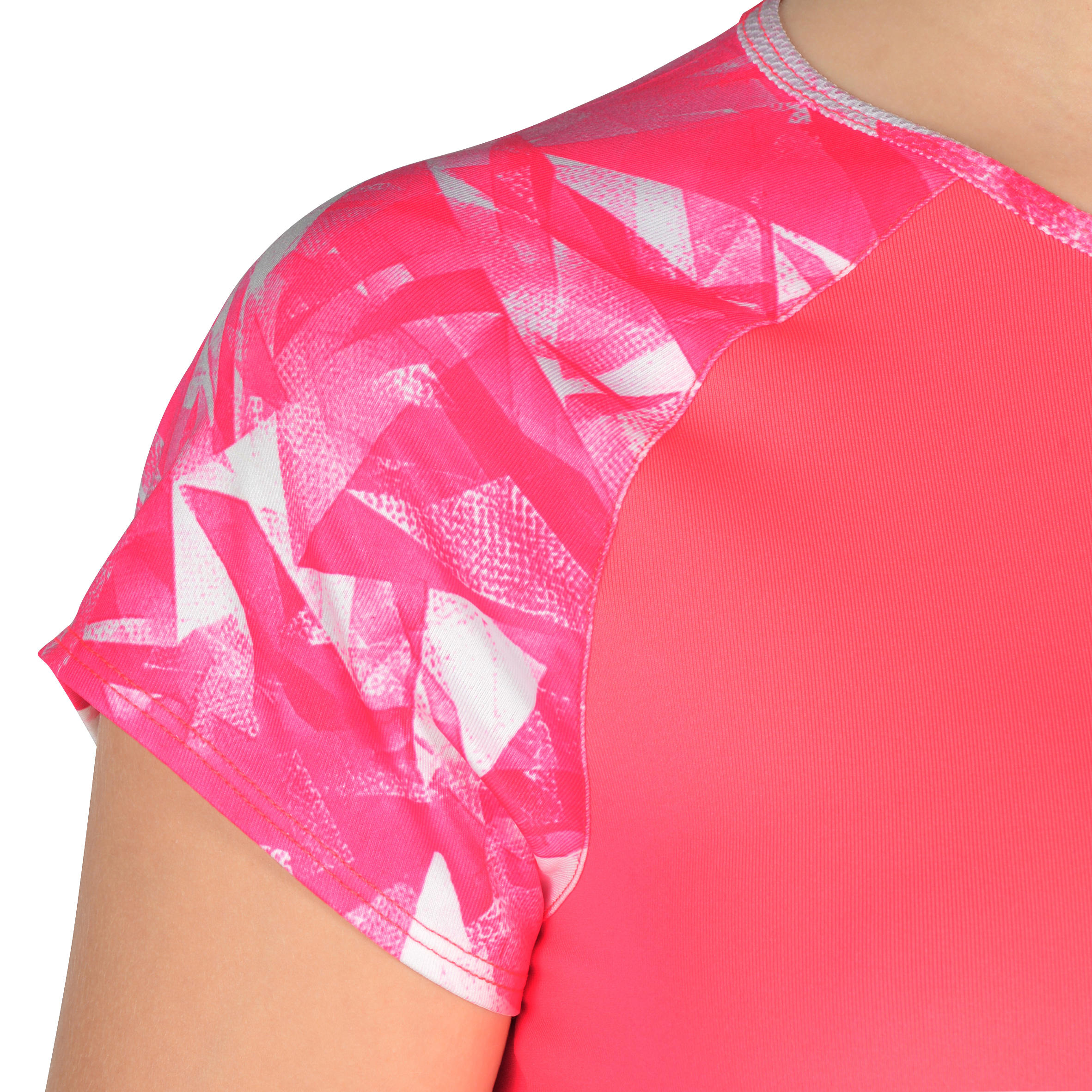 960 Girls' Short-Sleeved Gym T-Shirt - Pink Print