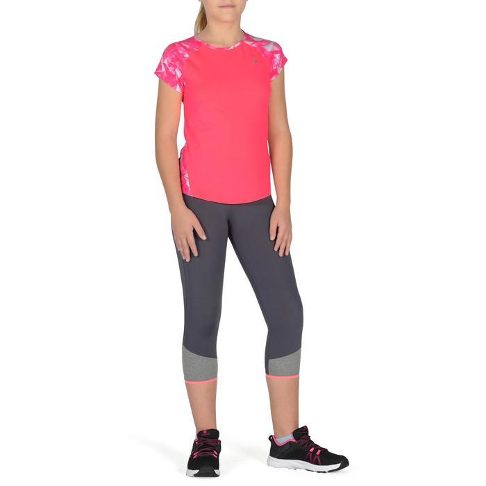 T-Shirt manches courtes S900 Gym Fille imprimé - 1302458