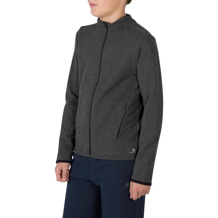 Veste 100 Gym garçon poches gris foncé - 1302461