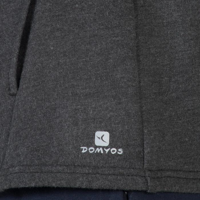 Veste 100 Gym garçon poches gris foncé