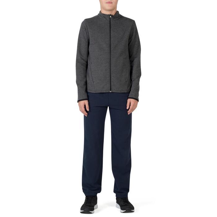 Veste 100 Gym garçon poches gris foncé - 1302502