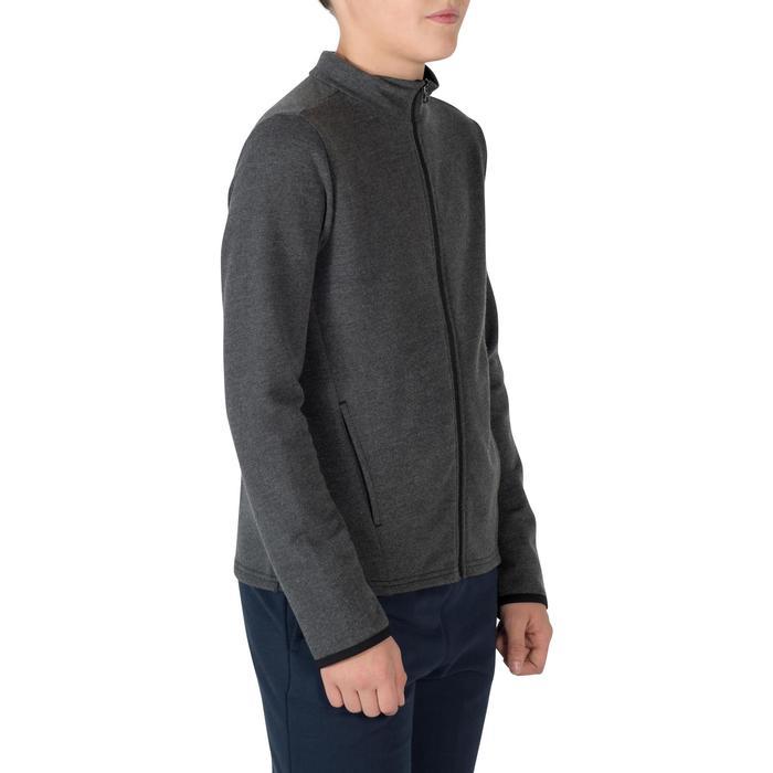 Veste 100 Gym garçon poches gris foncé - 1302525