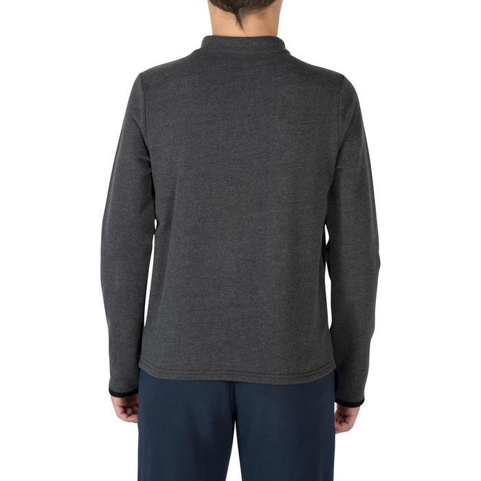 Veste 100 Gym garçon poches gris foncé - 1302537