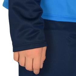 Trainingsanzug warm Synthetik atmungsaktiv Gym'y S500 Gym Kinder blau