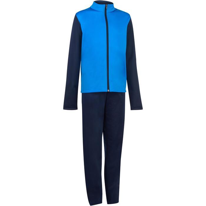 8924526d74156 Chándal Gym y gimnasia niño azul Domyos