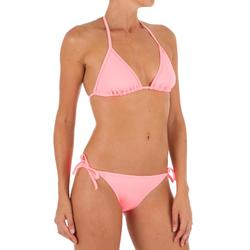 Top Bikini Triangulos Corredizos Olaian Mae Clásico Mujer Rosa Palo