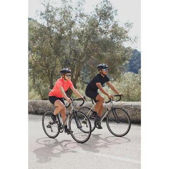 Kurzarm-Fahrradtrikot 100 Herren schwarz