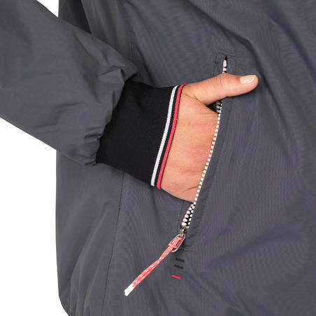 Manteau de bateau femme Course 100 gris foncé