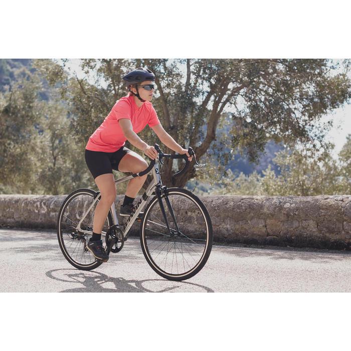 Kurze Radhose Rennrad 100 Damen schwarz