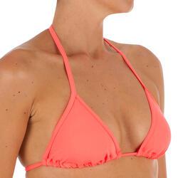 Sujetador de bikini mujer con triángulos corredizos con copas MAE CORAL