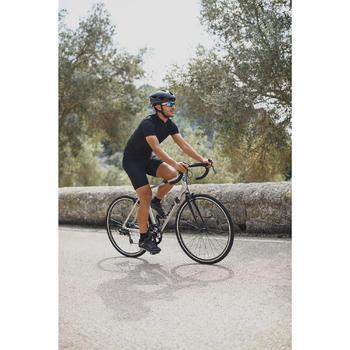MAILLOT MANGA CORTA CICLISMO CARRETERA HOMBRE ROADCYCLING 100 NEGRO B'TWIN