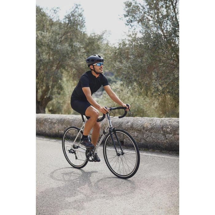 CUISSARD VELO ROUTE HOMME SANS BRETELLES ROADCYCLING 100 NOIR - 1302761