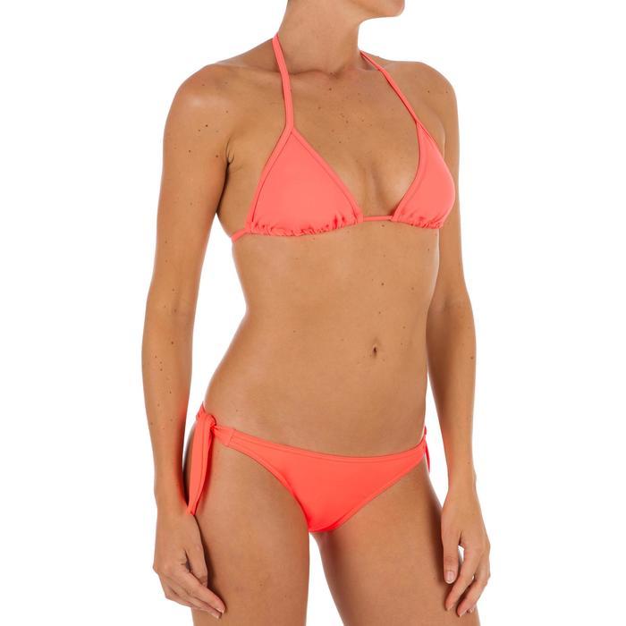 Haut de maillot de bain femme triangle coulissant avec coques MAE CORAIL - 1302764
