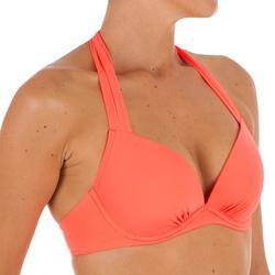 Haut de maillot de bain femme push up avec coques fixes ELENA CORAIL