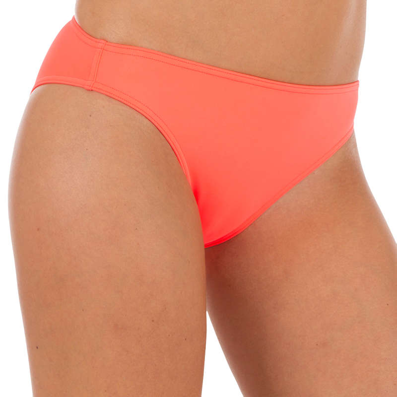 WOMEN BEGINNER SURF SWIMSUIT Surf - Nina Classic Briefs - Coral OLAIAN - Surf Clothing