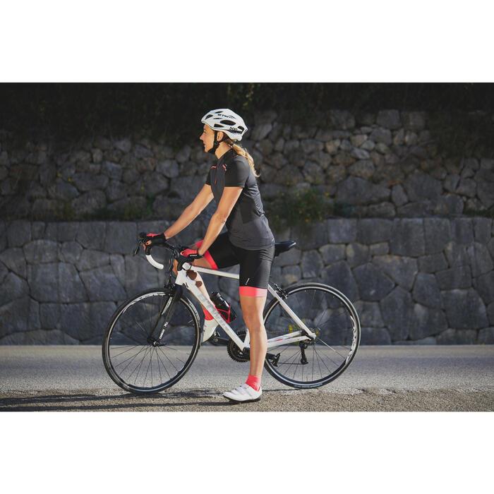 Kurze Radhose Rennrad 500 Damen schwarz/pink